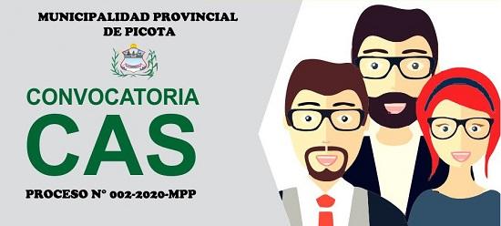 CONVOCATORIA CAS N° 002-2020-MPP
