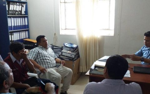 Reunion de Autoridades sobre el mejoramiento del tramo Picota-Tingo de Ponaza