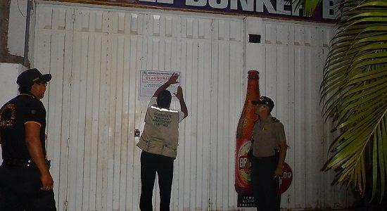 Clausuran bares que no cuentan con Licencia de Funcionamiento
