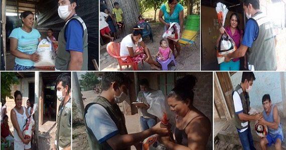 Familias de Winge reciben apoyo solidario de la Municipalidad Provincial de Picota