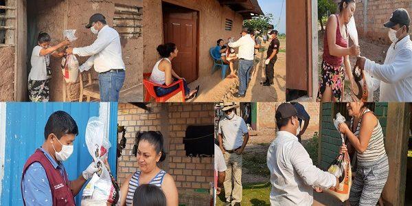 Municipalidad Provincial de Picota hace entrega de apoyo a las Familias de Santa Rosillo